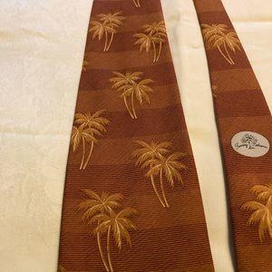Tie, gold with brassy palms, Tommy Bahama